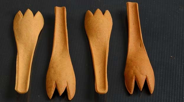 edible cutlery Edible spoons a la willy wonka and the chocolate factory are now a reality a telangana, india-based company, called bakey's, makes edible spoons, forks, and chopsticks its founder narayana .